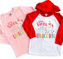 dear santa bring me a unicorn - unicorn christmas shirt - girls christmas shirt - shirt for girls - girls unicorn shirt - unicorn tshirt