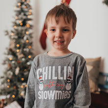 chilling with my snowmies - snowman shirt - winter tshirt - shirt for winter - funny winter shirt - boys christmas shirt - girls shirt