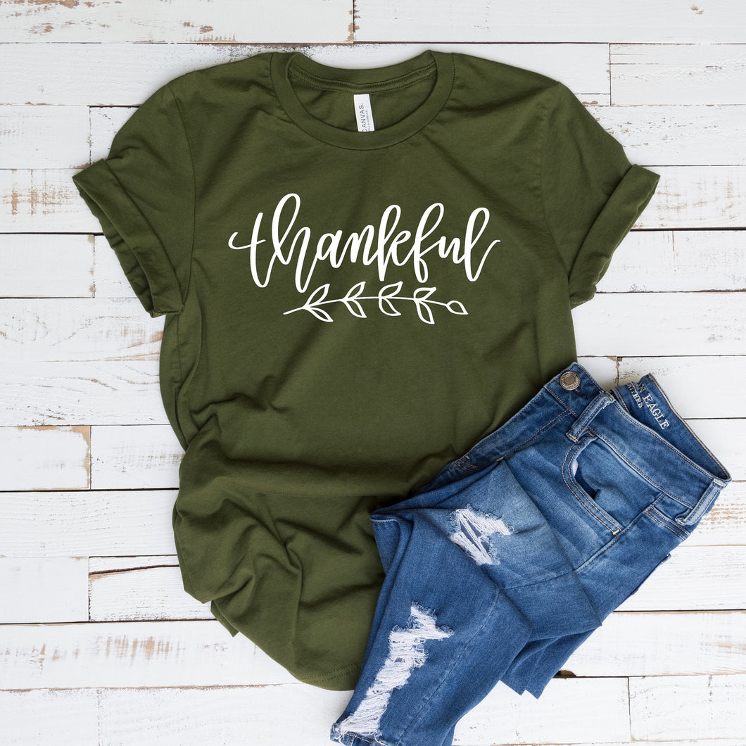 thankful shirt - adult thankful shirt - thanksgiving shirt - shirt for thankgiving - women's thankgiving shirt - thankfull fall tshirt