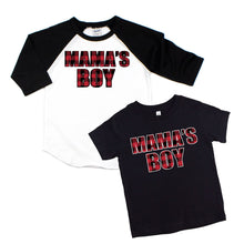 Mama's boy - buffalo plaid mama's boy - boy's shirt - boy plaid shirt - plaid shirt for boys - winter plaid shirt - buffalo tshirt - winter