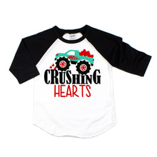 crushing hearts - valentines monster truck shirt - monster truck valentines day - boy valentine shirt - monster truck shirt - truck love