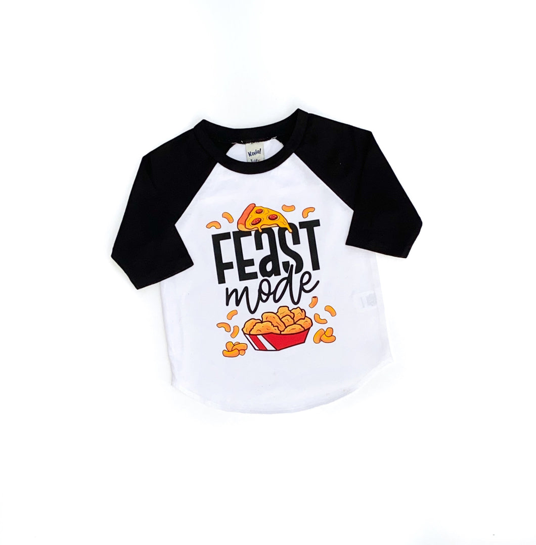 feast mode - foodie tshirt - snacking shirt - food shirt for kids - pizza tshirt - chicken nuggets shirt - snacking toddler - snacks