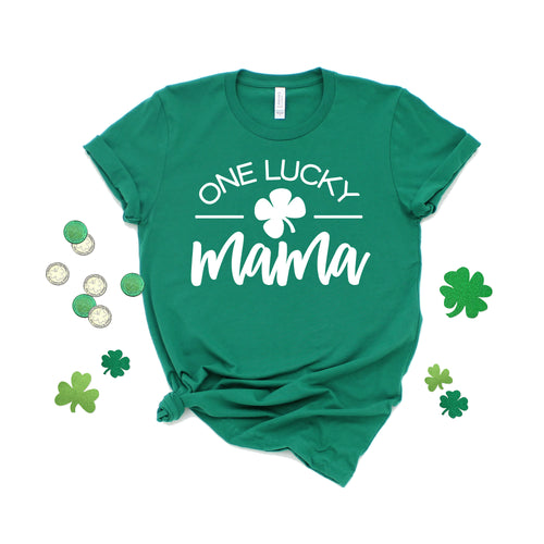 one lucky mama - st patricks day shirt - shamrock shirt - lucky mama shirt - womens st patricks shirt - st patricks shirt - saint patricks