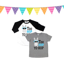 too hip to hop - bunny shirt - bunny tshirt - cool bunny shirt - boys easter shirt - boy easter shirt - easter bunny - funny easter shirt