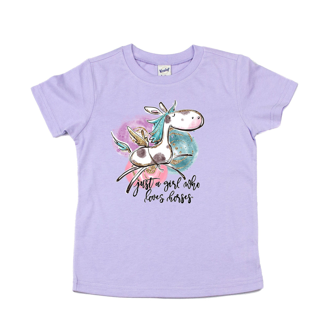 just a girl who loves horses - horse shirt - horse tshirt - girls horse shirt - toddler horse shirt - horse birthday - equestrian shirt