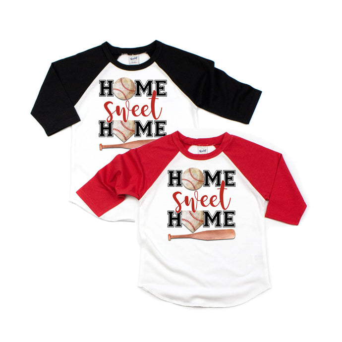 home sweet home - baseball shirt - baseball shirts - baseball mom - baseball tshirt - baseball game - baseball birthday - baseball raglan