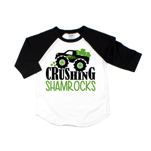 st patricks day shirt - st patricks shirt - st pattys day - boys st patricks day shirt - st patricks truck - monster truck shirt - truck