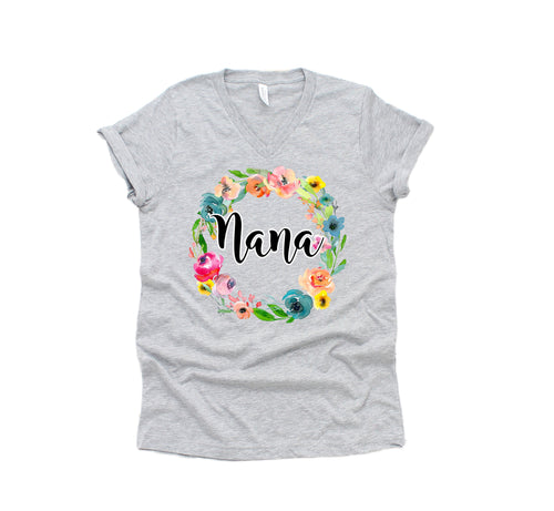 grandma shirt - grandma tshirt - nana shirt - nana tshirt - gift for nana - nana floral shirt - gift for grandma - grandmother gift