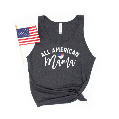 all american mama - mama fourth of july shirt - fourth of july - mama patriotic shirt - usa mama shirt - heart flag shirt - 4th of july