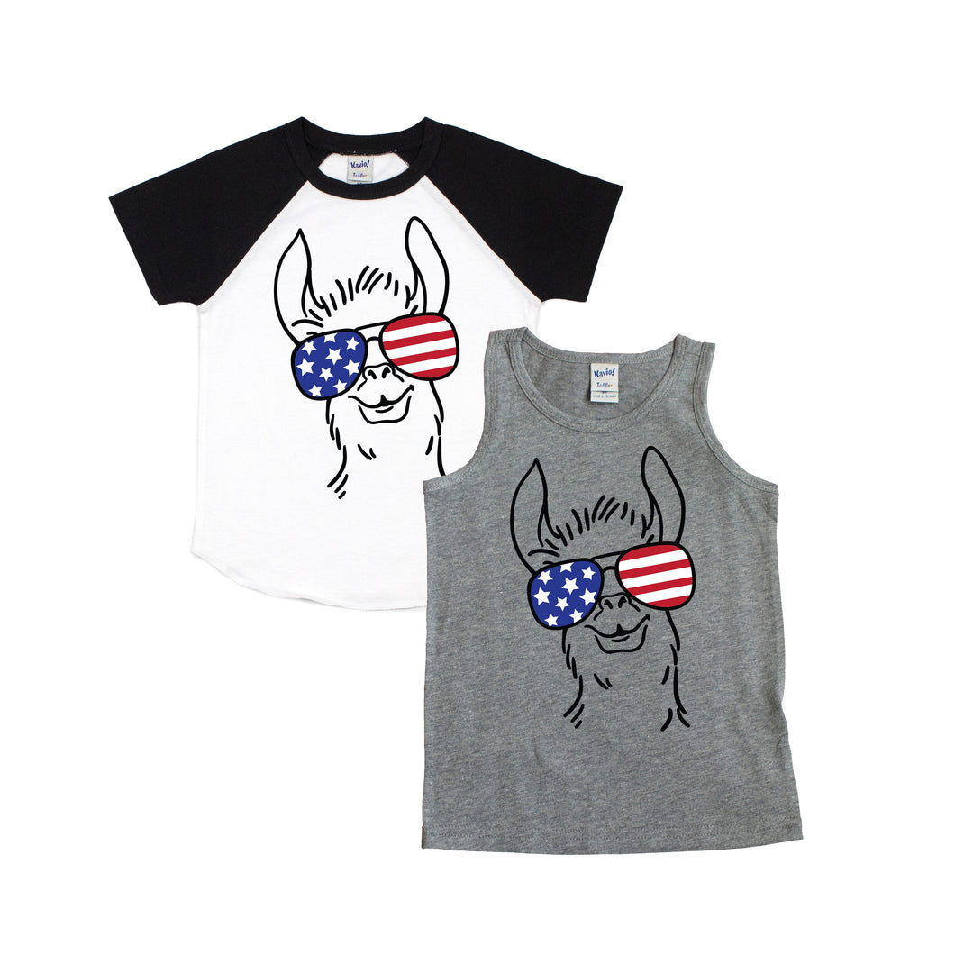 llama shirt - boy llama shirt - llama patriotic - boys fourth of july - american shirt - american flag - 4th of july shirt - llama tshirt