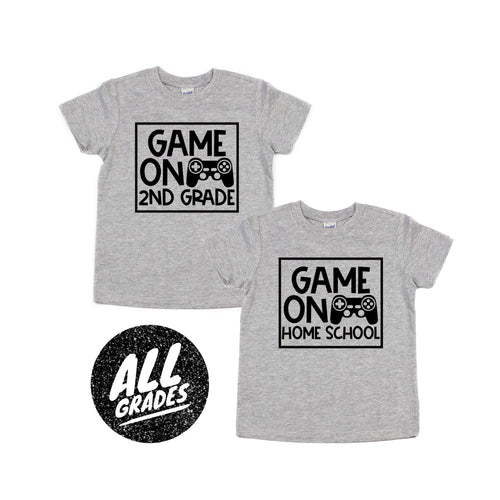 game on second grade - back to school - first grade - gaming school shirt - game over - first day of school - boy back to school shirt
