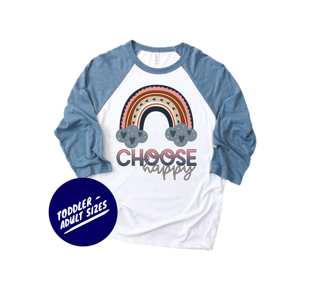 choose happy - rainbow shirt - rainbow tshirt - matching rainbow shirts - mommy and me outfits - be happy shirts - happiness shirts