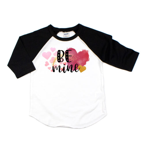 be mine - valentine shirt - valentines shirt - shirt for valentines - heart shirt - watercolor hearts - be mine tshirt - valentines day