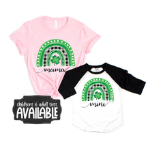 mommy and me st patricks shirts - rainbow st patricks shirt - plaid rainbow shirt - st patricks day shirt - mama and mini shirt - mommy tee