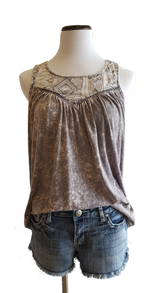 Boho Chic Purple Tank