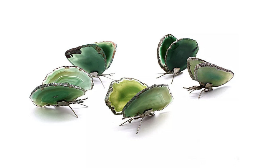 Agate Butterfly Green