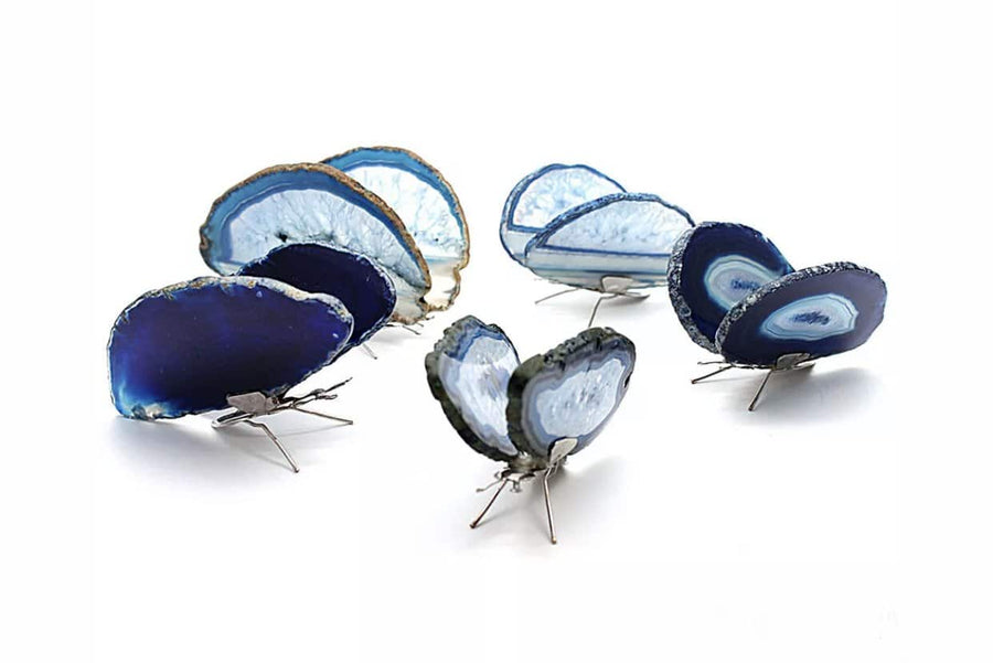 Blue Agate Butterfly