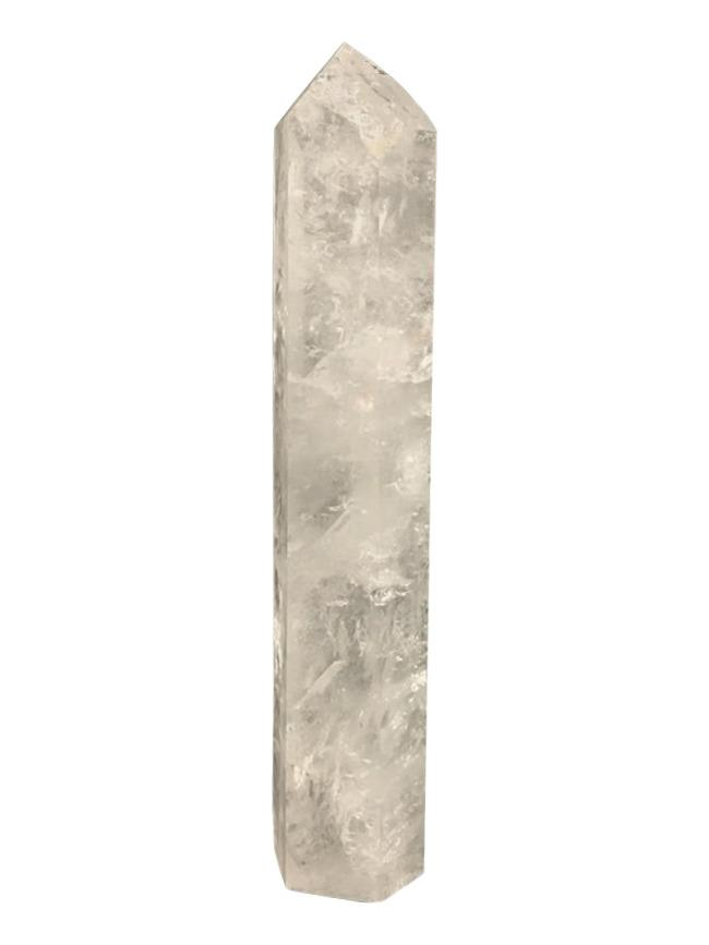 Clear Quartz Obelisk Crystal # 2 (includes rainbows and inclusions)