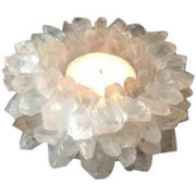 Clear Quartz Point Candle Holder