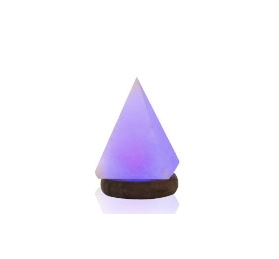Himalayan USB Pyramid Salt Lamp
