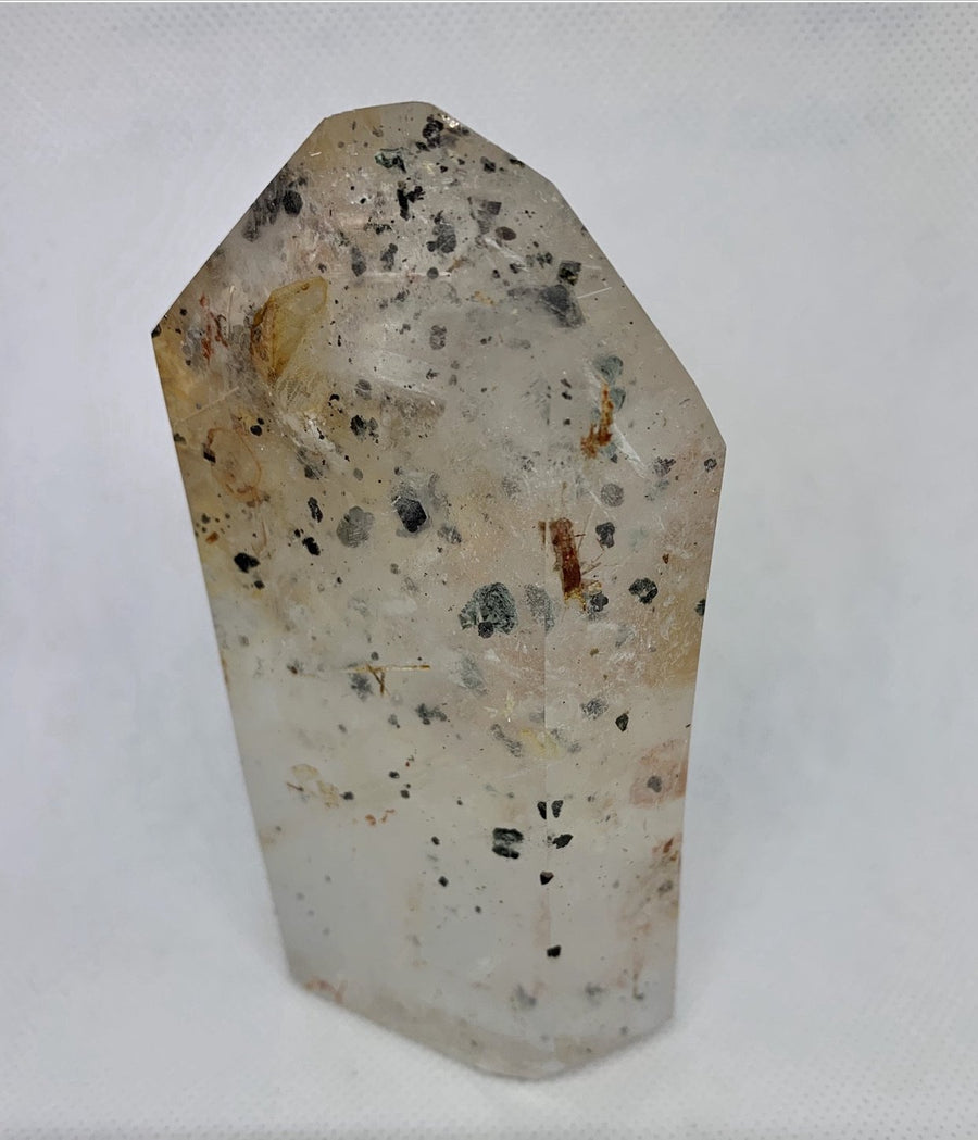 Hollandite Quartz Point
