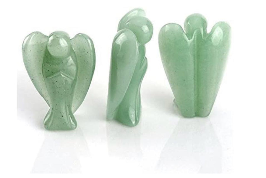 Jade Quartz Angel Figurine