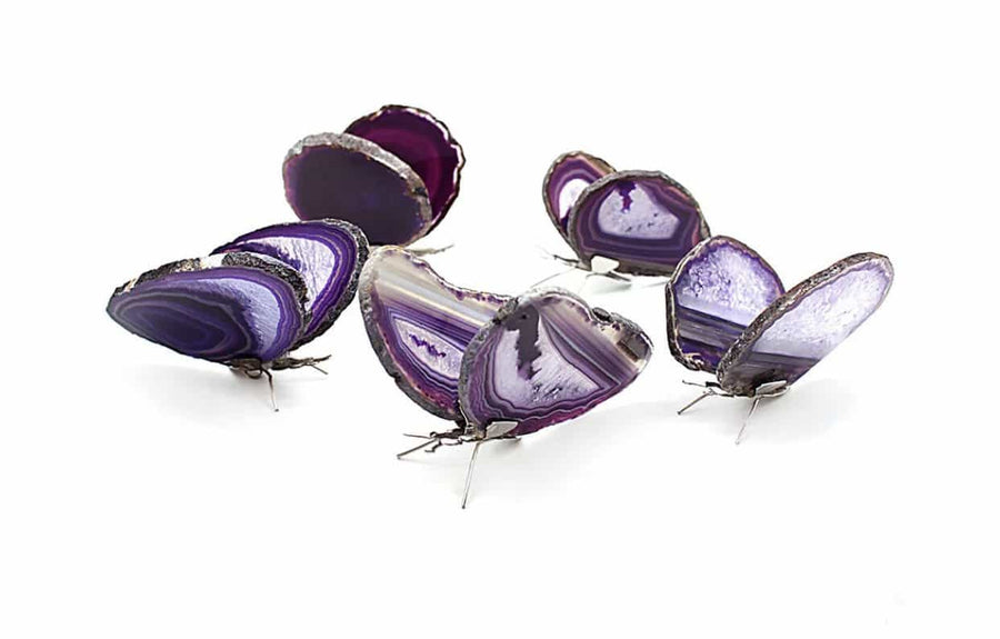 Purple Agate Butterfly