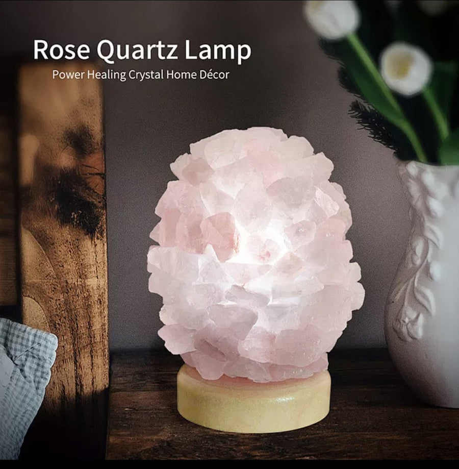 Rose Quartz Led  Lamp
