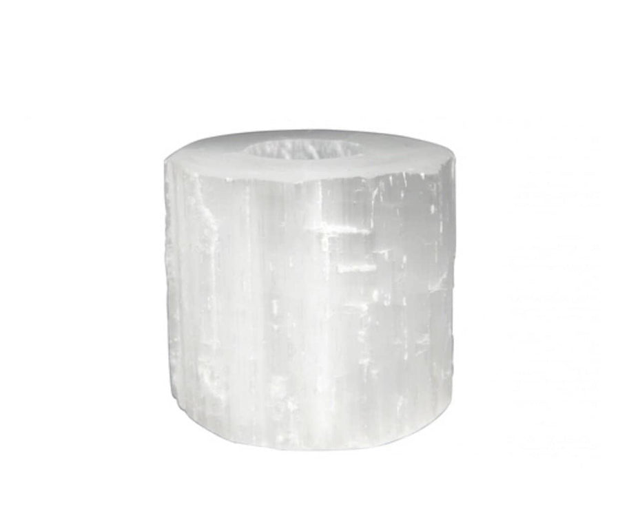 Selenite polished  Tea light holder