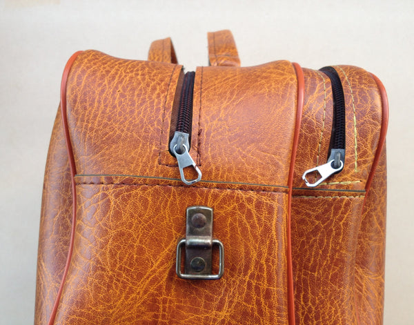Mens Brown Leatherette Weekend Bag