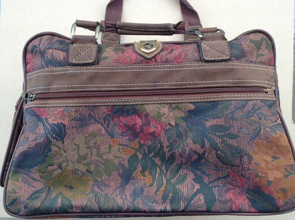 Ladies First Class Canvas Floral Weekend Bag