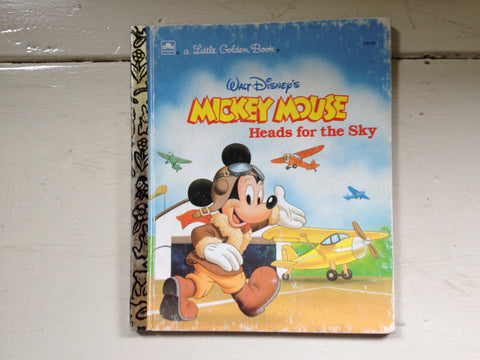 a Little Golden Book Mickey Mouse Heads for the Sky