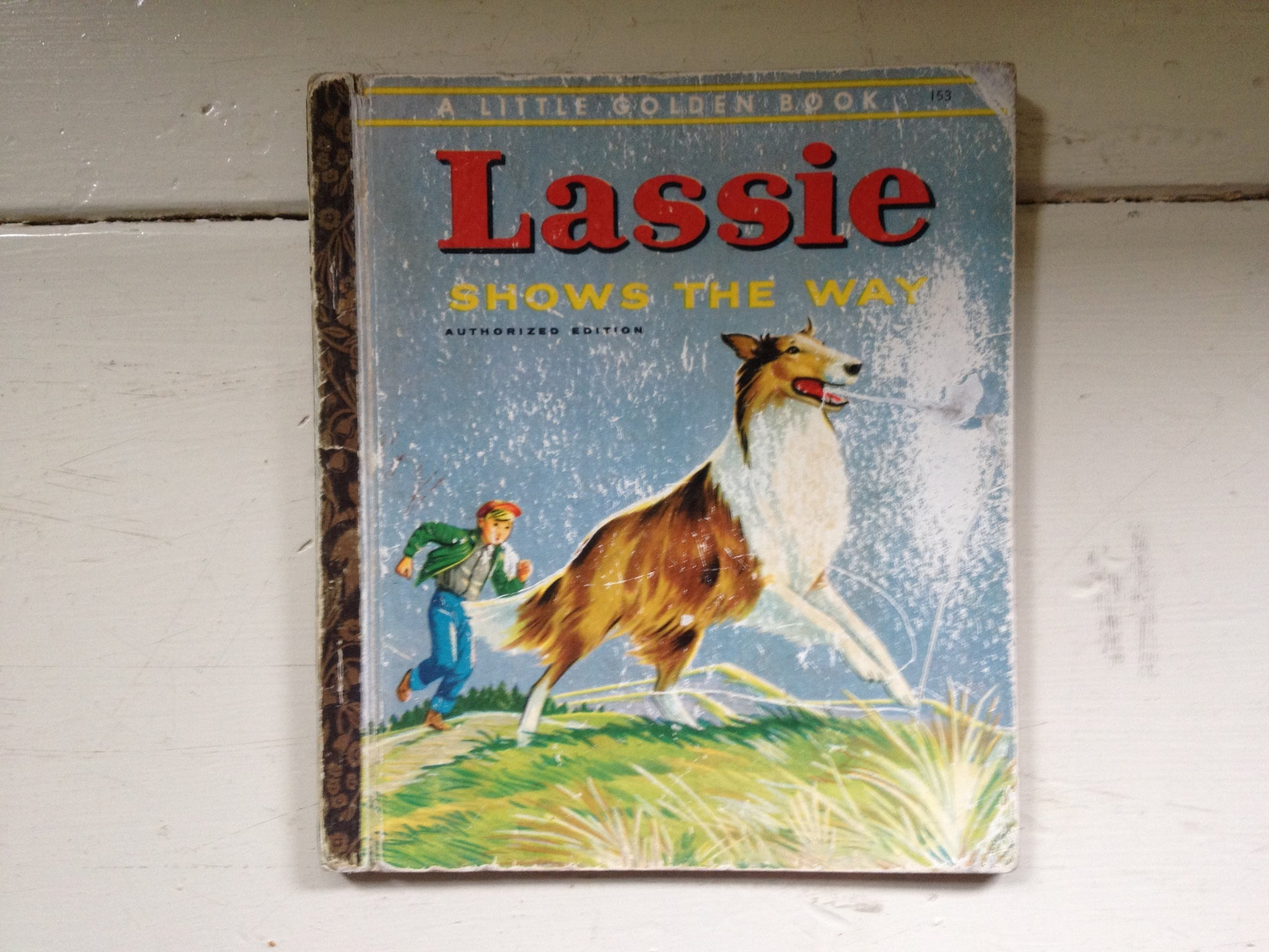 a Little Golden Book Lassie Shows the Way