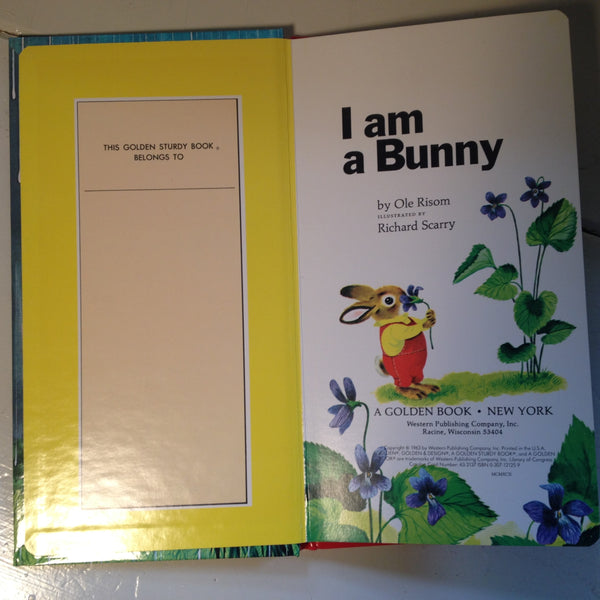a Golden Sturdy Book I am a Bunny
