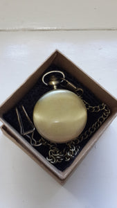 Pocket Watch Polished Brass