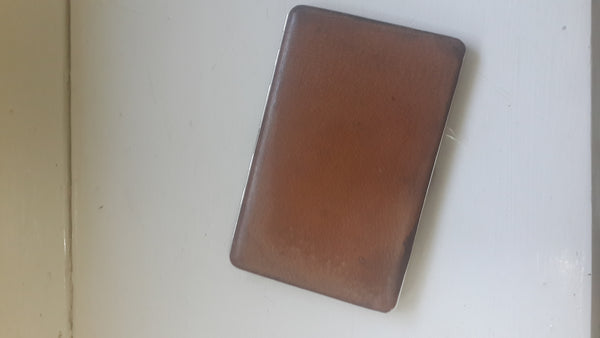 Vintage Leather Slimline Tin