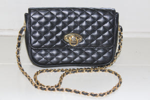Classic Black Quilted Handbag