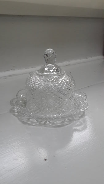 Crystal Dish with Cloche Cover