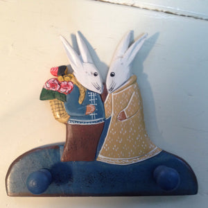 Rabbit Wooden Coat Rack