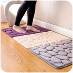 Coral Fleece Bathroom Memory Foam Rug  Non-slip Mats.