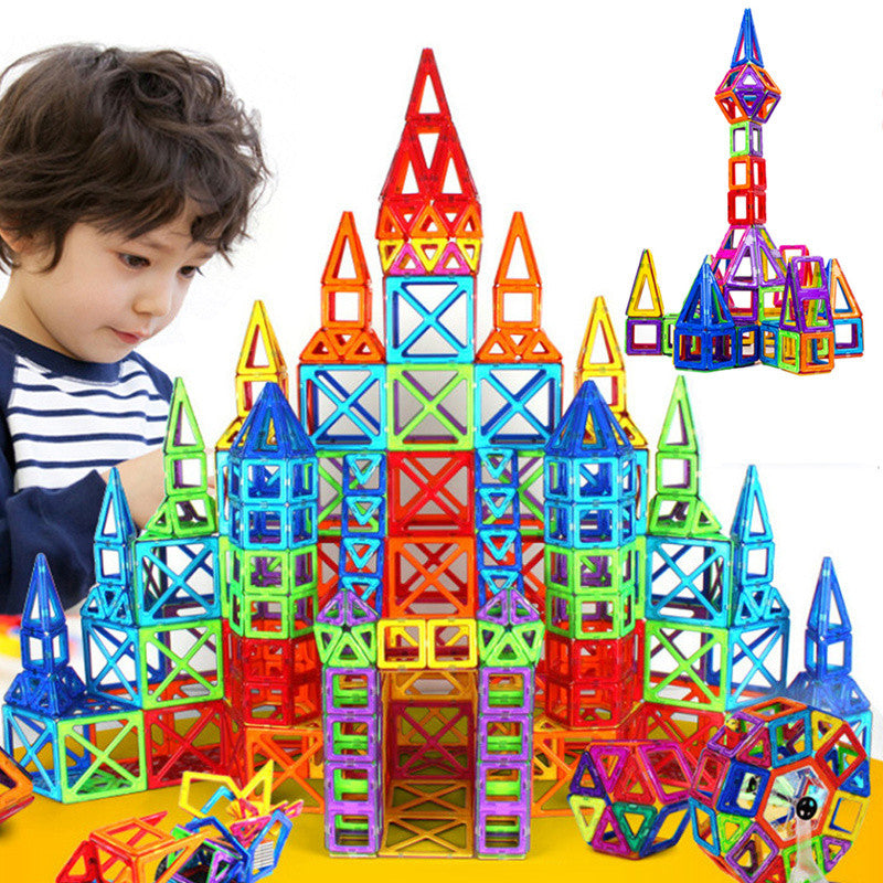 164pcs-64pcs Mini Magnetic Designer Construction Building Toy Plastic  Blocks Educational Toys For Kids Gift