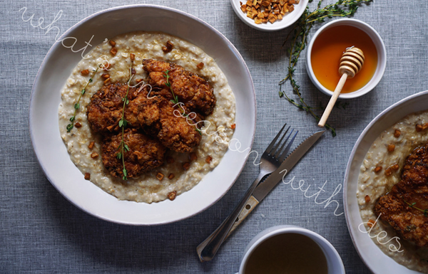 Crispy Chicken Oatmeal