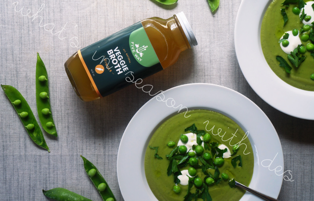 Veggie Broth Spring Pea Soup