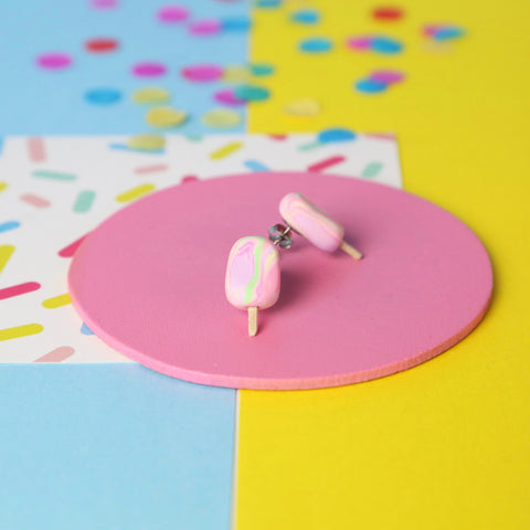 Rainbow paddle pop studs