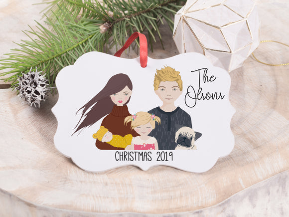 Family Portrait Ornaments