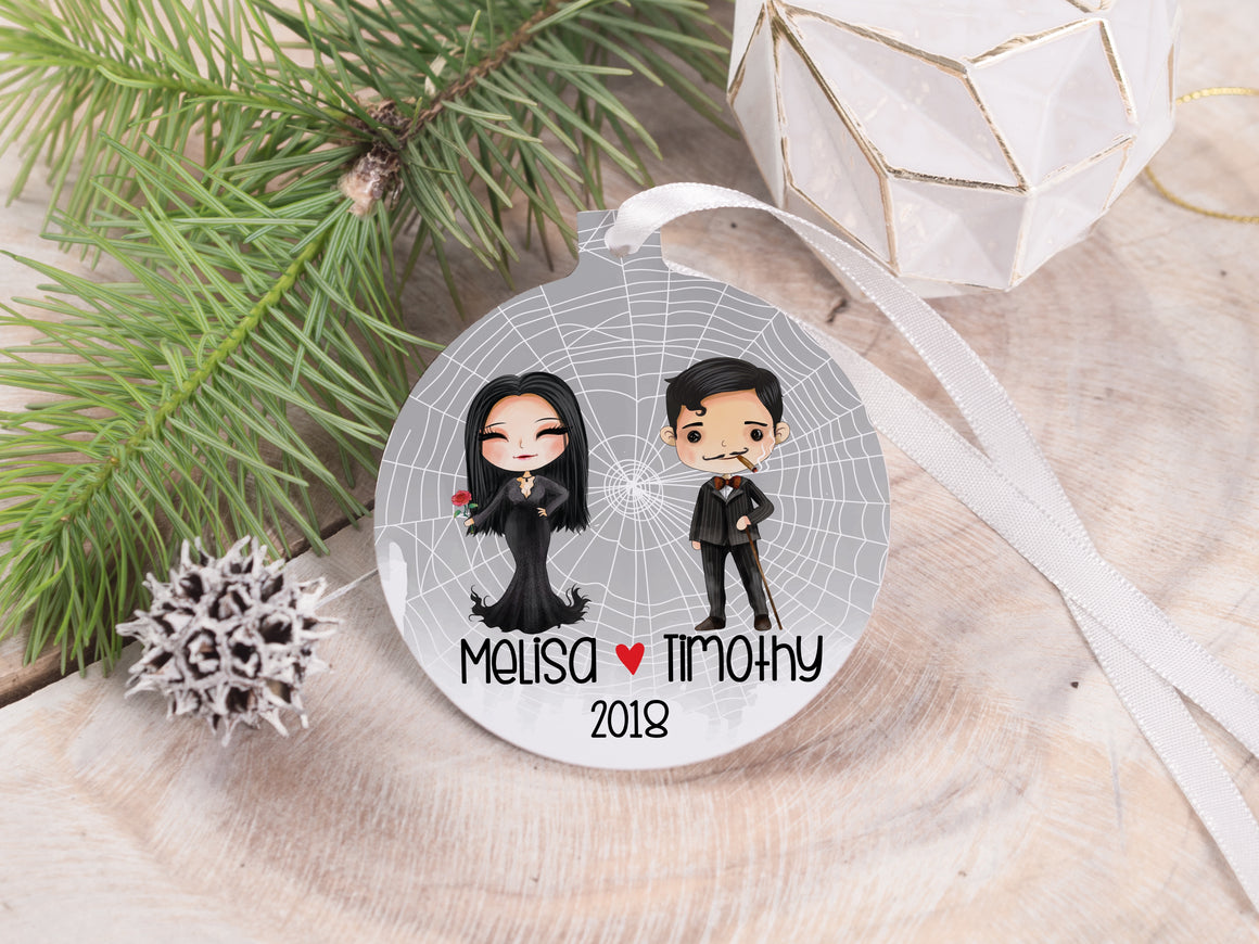 "Ornament - ""Addams Family Couple"""