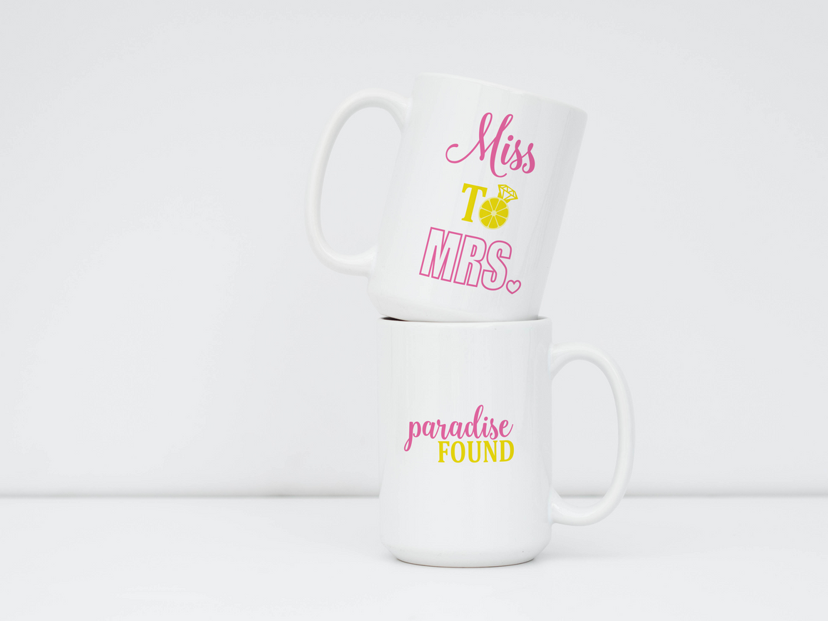 "Mug - ""Miss to Mrs. Tropical Theme"""