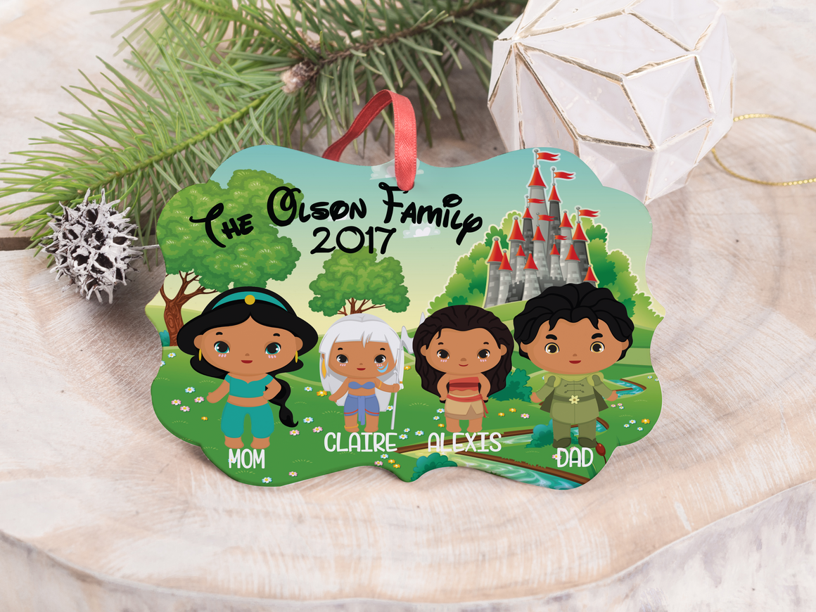 "Ornament - ""Princess and Prince Family"""