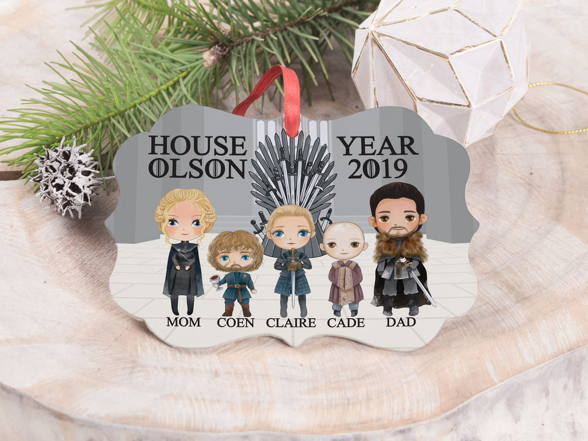 "Ornament - ""Game of Thrones Family"""