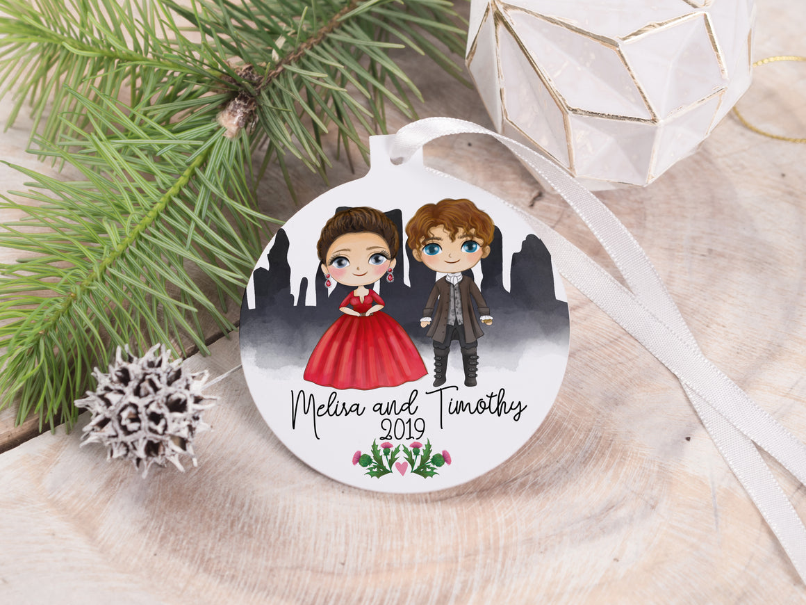 "Ornament - ""Outlander Couple"""